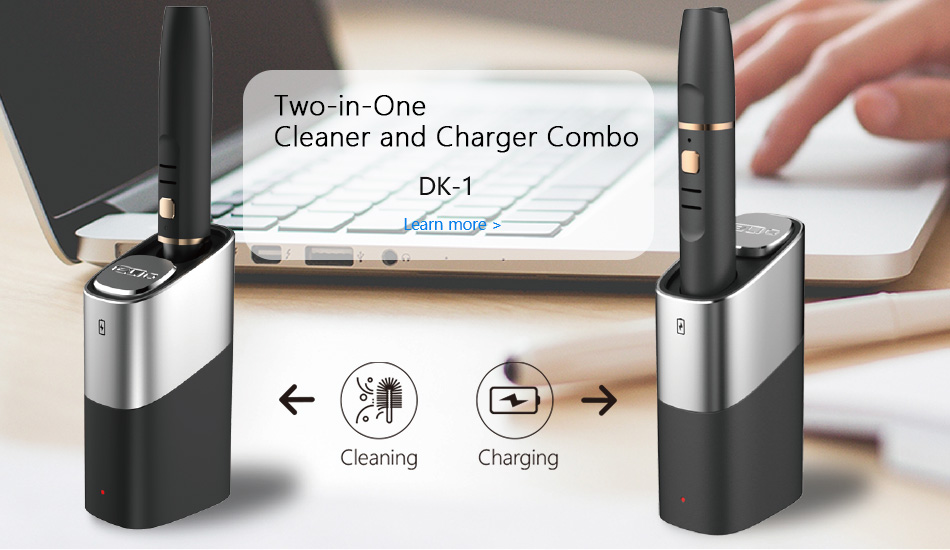 Two-in-one cleaner and charger combo,ELIO charger,深圳御烟, 深圳御烟实业